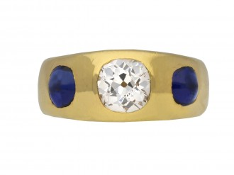 Victorian diamond and sapphire gypsy ring berganza hatton garden
