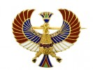 front view Egyptian revival brooch.