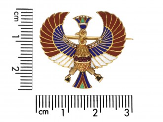 Egyptian revival brooch berganza hatton garden