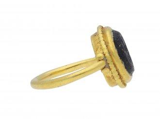 Ancient Roman fishermen intaglio ring hatton garden