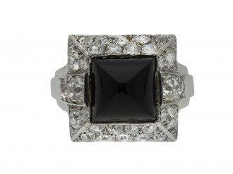 Art Deco onyx and diamond ring berganza hatton garden