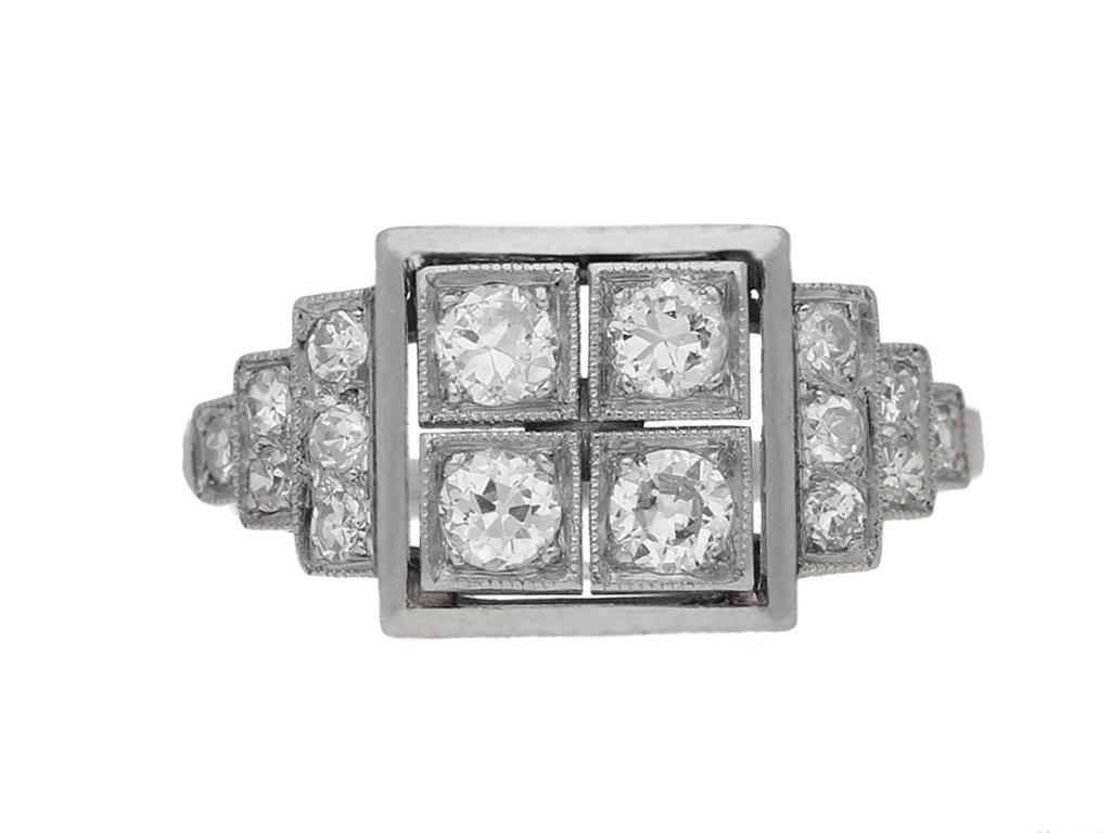 ront view Art Deco diamond ring, French, circa 1935 berganza hatton garden