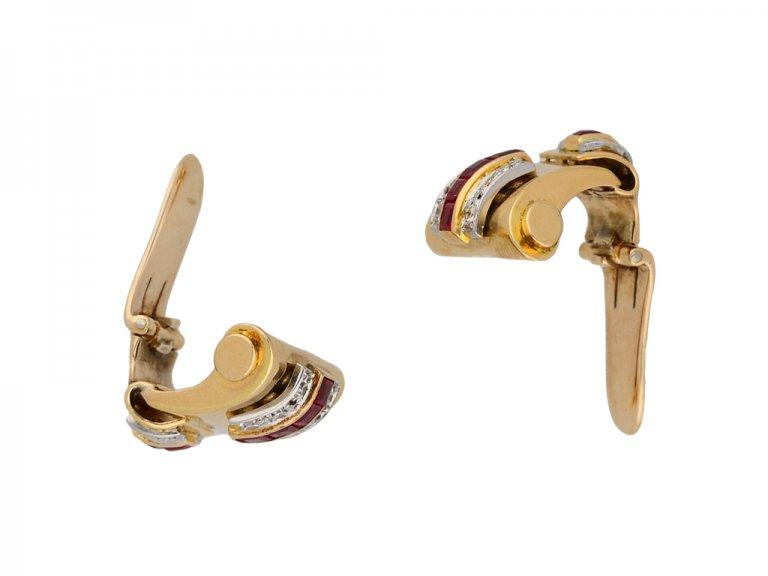 Ruby and diamond earrings berganza hatton garden