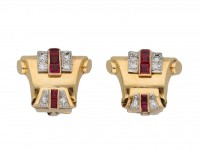 Ruby and diamond earrings berganza hatton garden