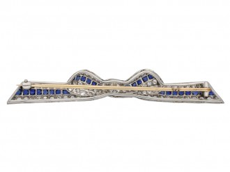 Marcus & Co. sapphire and diamond brooch berganza hatton garden