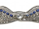 Marcus & Co. sapphire and diamond brooch berganza hatton garden