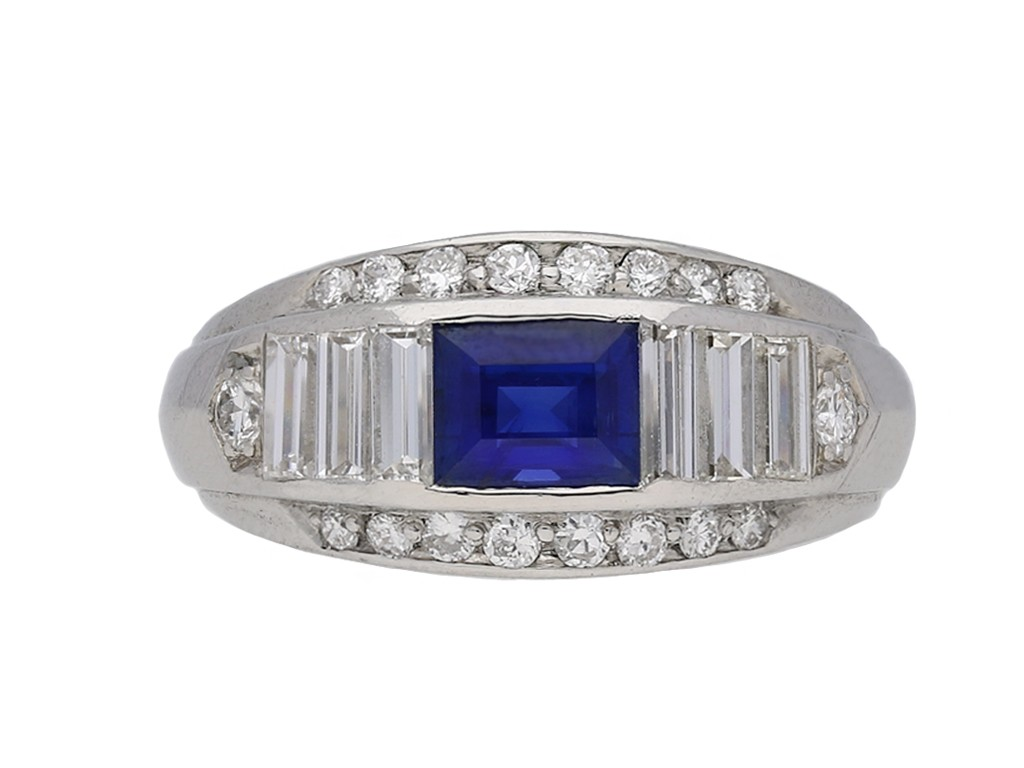 F & F Felger sapphire and diamond ring berganza hatton garden