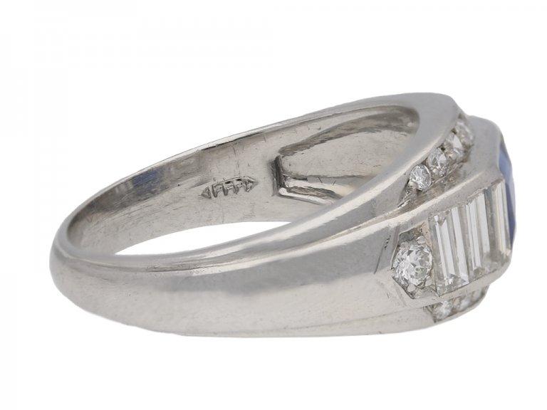 F & F Felger sapphire and diamond ring berganza hatton garden