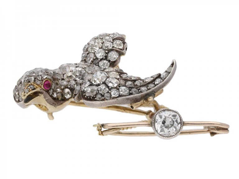 Antique diamond set 'Saint Esprit' brooch berganza hatton garden