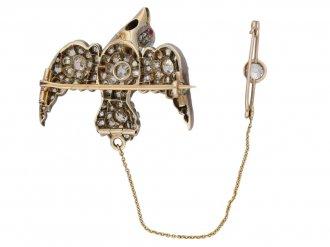 Antique diamond set 'Saint Esprit' brooch berganza hatton garden