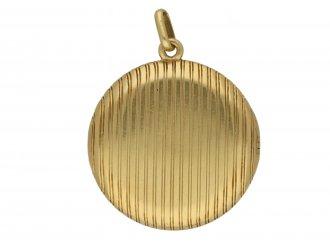 Antique three picture gold locket berganza hatton garden