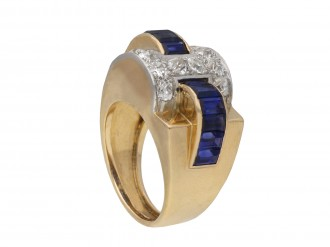 Sapphire and diamond cocktail ring berganza hatton garden