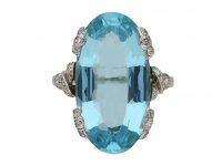 Aquamarine and diamond ring berganza hatton garden