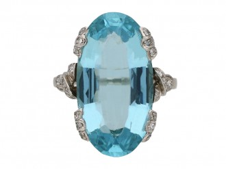 Aquamarine and diamond ring berganza hatton garden