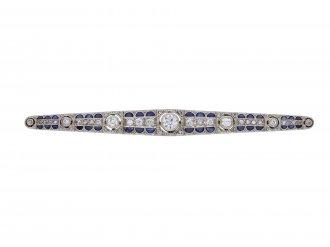 Edwardian diamond sapphire brooch berganza hatton garden