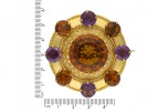 Antique brooch set citrines amethysts berganza hatton garden