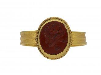 Ancient Roman jasper signet ring berganza hatton garden