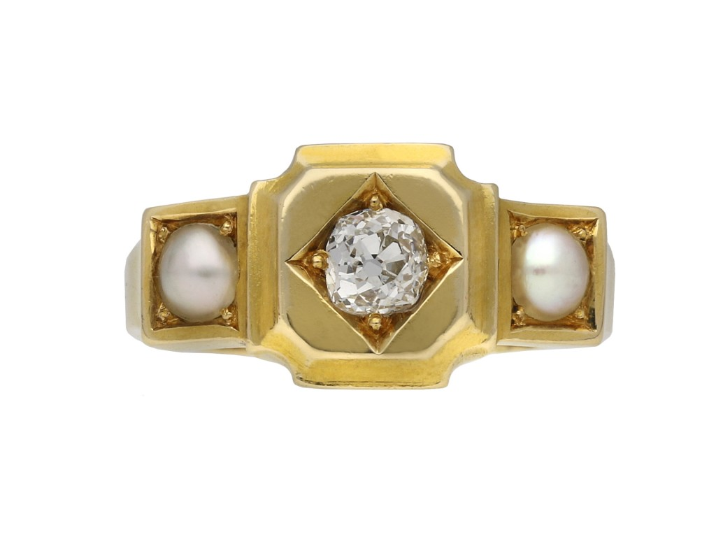 Victorian diamond and pearl ring berganza hatton garden