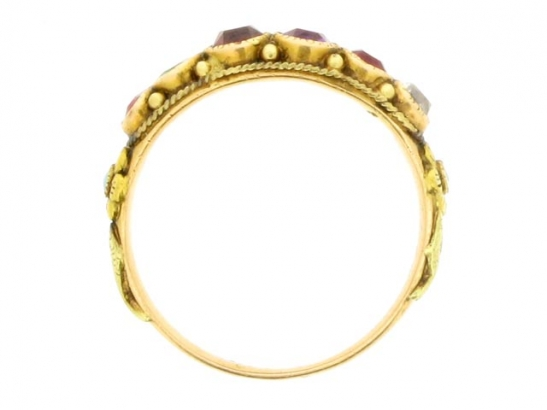 back-view-Antique REGARD ring, circa 1850.