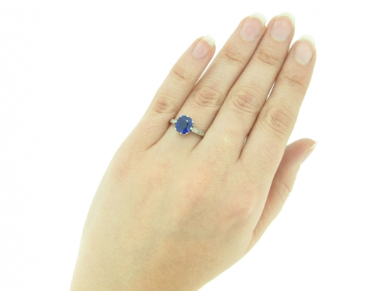 Royal Blue Kashmir sapphire and diamond ring, circa 1910.