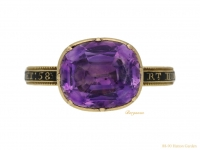 Amethyst memorial ring for the Right Honourable George Grenville (British Prime Minister, 1763-1765)