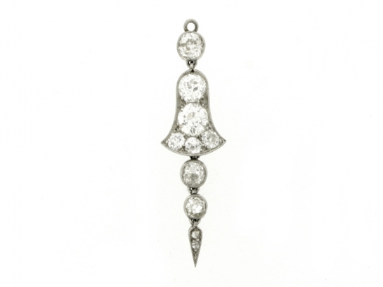 front-view-Child & Child pendant brooch, English