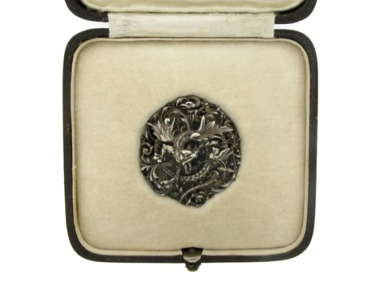boxed-view-Jules Wiese brooch, French, 1855-1880.