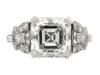 front-view-Art Deco asscher cut diamond ring, circa 1920.