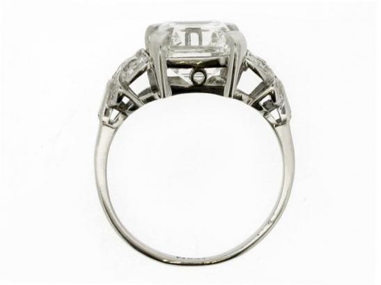 back-view-Art Deco asscher cut diamond ring, circa 1920.