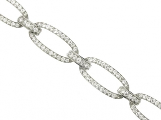 front-view-Georges Fouquet diamond bracelet, French, circa 1920.