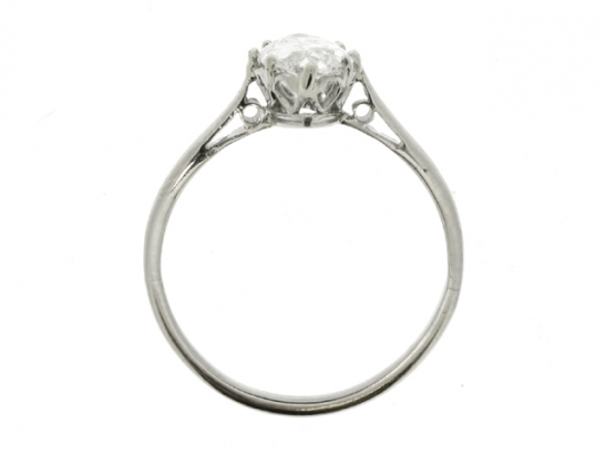 back-view-Solitaire marquise diamond ring, circa 1910.