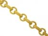 front-view-18 carat gold link bracelet, circa 1960.