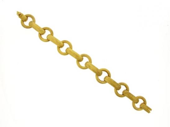 side-veiw-18 carat gold link bracelet, circa 1960.