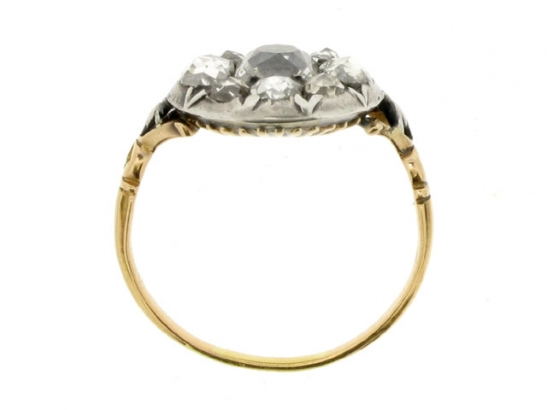 back-view-Georgian diamond ring, English, circa 1770.