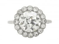 Diamond coronet cluster ring, circa 1920.