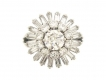 alt='Round and baguette diamond ballerina coronet cluster ring, French, circa 1950.'