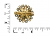 Antique yellow sapphire and diamond flower brooch, circa 1880.