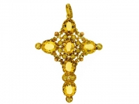 Georgian gold cross set with citrine, circa 1820.