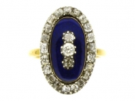 Georgian diamond and enamel memorial ring, circa 1790.
