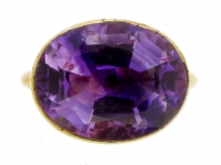 Georgian amethyst mourning ring, 1764.