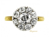 Georgian diamond coronet cluster ring, circa 1800.