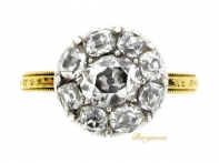 Georgian diamond cluster ring, circa 1800.