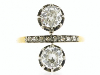 Antique diamond ring/earrings, circa 1905.
