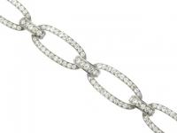 front view Georges Fouquet diamond bracelet, French, circa 1920.
