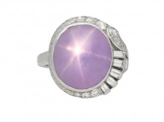 Star sapphire and diamond ring berganza hatton garden