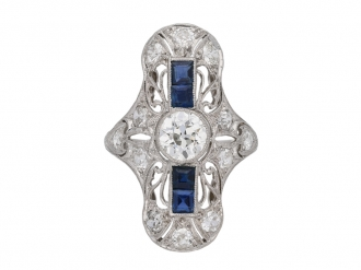 Diamond and sapphire dress ring berganza hatton garden