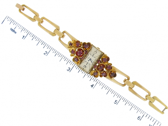 size view vintage Cartier ruby set watch berganza hatton garden