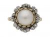 front_pearl diamond floral cluster ring berganza hatton garden