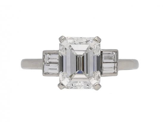 front art deco diamond ring berganza hatton garden