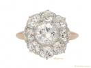 front antique diamond cluster ring hatton garden berganza